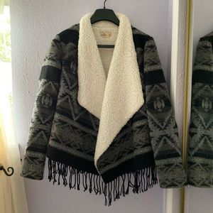 Hollister Sherpa Lined Cardigan